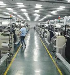 杭州中冉纺织战略合作的天丝牛仔布智能织造厂
