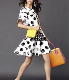 莫代尔棉印花面料案例女式印花连衣裙