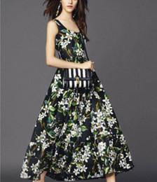 40S全天丝平纹印花长款连衣裙