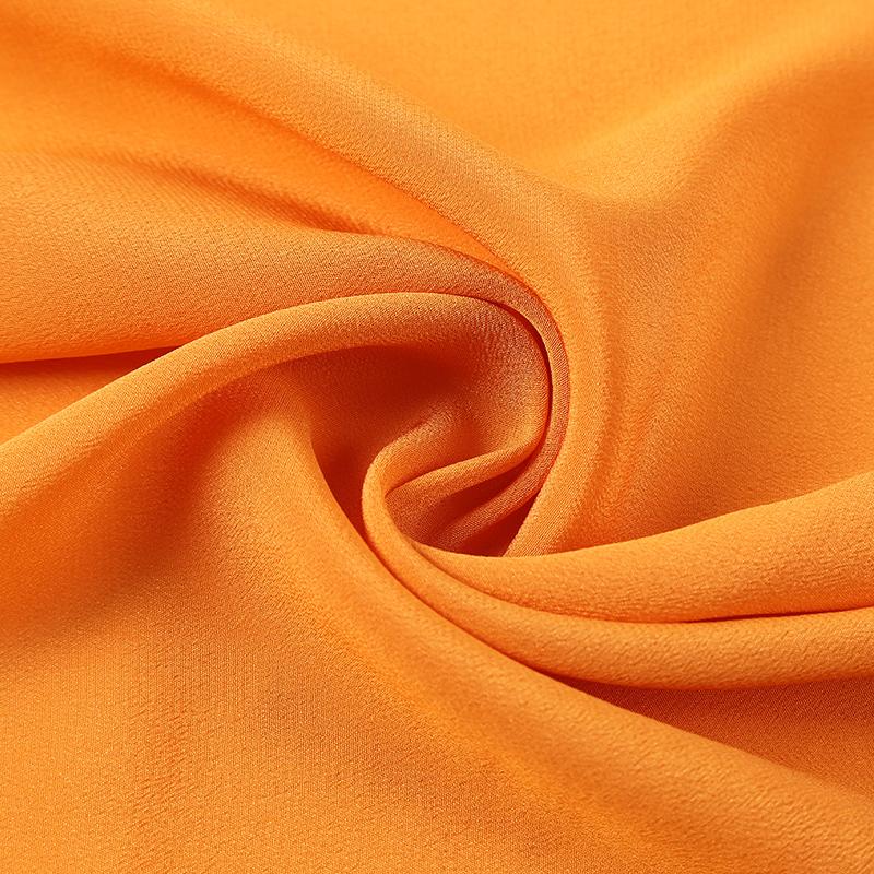 真丝与醋酸交织的重磅真丝时装面料,新型桑蚕丝连衣裙布料批发