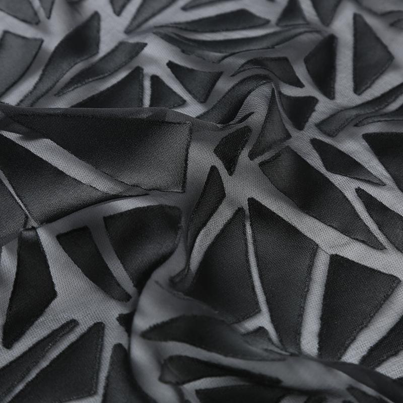 SV6078真丝与人造丝交织面料,新型高级桑蚕丝服装布料