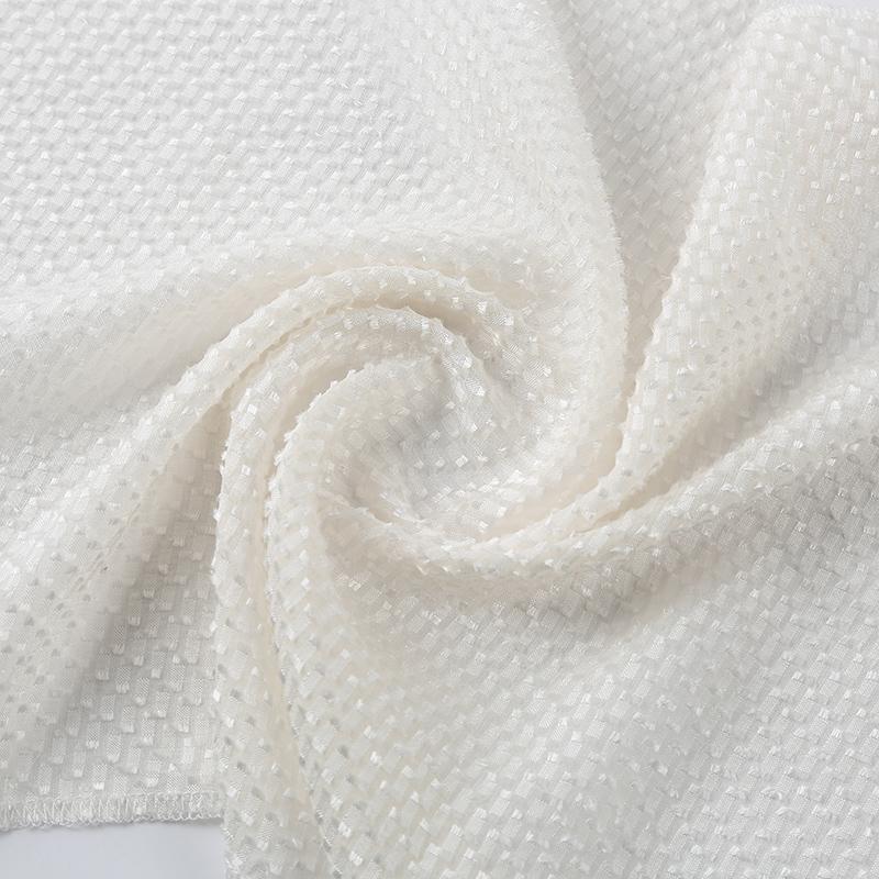 桑蚕丝与人造棉交织,特色小提花真丝面料SR48508,轻柔舒适品质高,适合做高级品牌时装